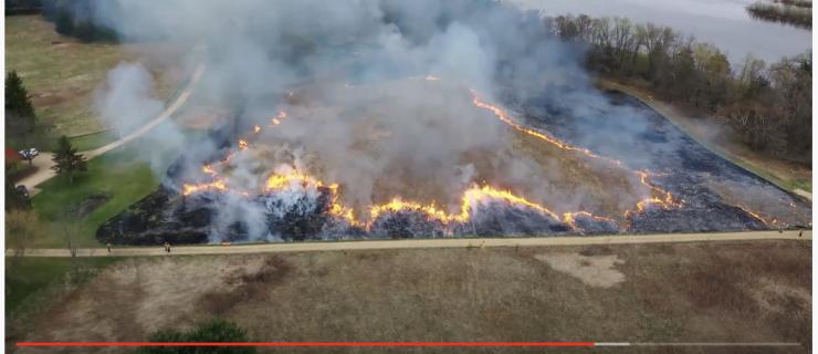 Prescribed Fire Drone Video!